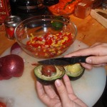 Preparing Salsa