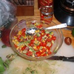 Tomato, Corn, Cilantro, Red Onion and Avocado Salso