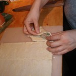 Folding Dough Over Filling