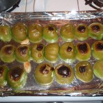 Tomatillos Cooling after Broiling