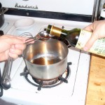 Heating the White Balsamic Vinegar