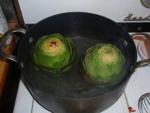 Boiling Artichokes