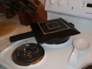 Prepping to Flip Tortilla Espanola