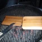 Prepping the Cedar Plank