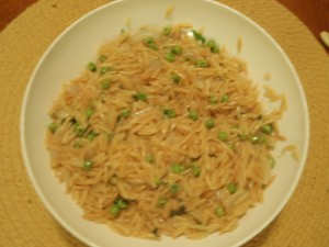 Toasted Orzo with Peas and Mint