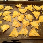 Placing Cheese on the Individual Chips
