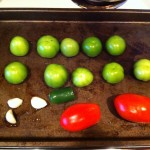 Ingredients for Salsa Verde ready for broiler