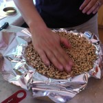 Using Black-Eyed Peas to Pre-bake Crust