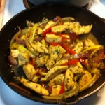 Finishing the Chicken and Veggies in Iron Skillet