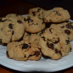 Double Chocolate Cookies with Dried Cherries