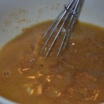 Whisk almond butter with soup mixture