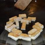 Brown the tofu
