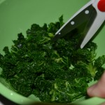 Cooling kale after blanch