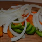 Sliced Onion and Peppers