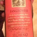 Seghesio Sangiovese - 2009 Vintage