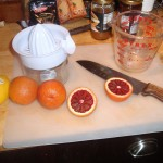 Prepping Blood Orange Marinade