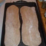 Rolled Out Dough on Baking Sheet