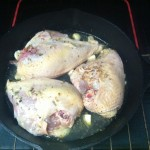 Chicken, Lemon Juice and Seasoning ready to bake.